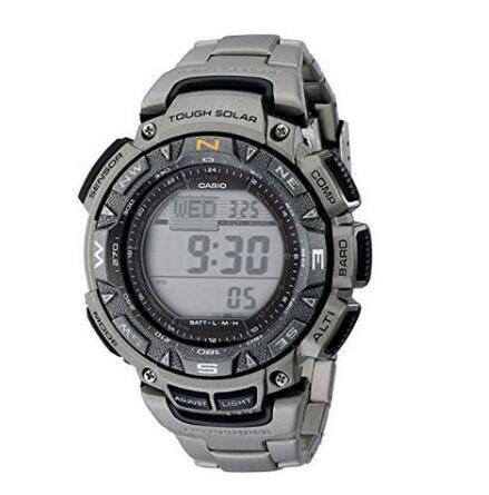 金盒最低价!CASIO 卡西欧 PAG240T-7CR Pathfinder 男士太阳能手表