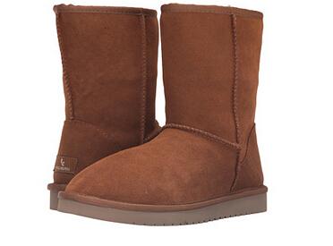 6PM新低价,Koolaburra 女士羊毛混纺真皮雪地靴 2色