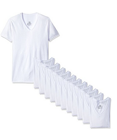 凑单白菜价,Hanes 恒适 V打底T恤12件装