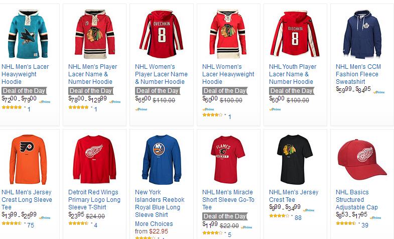 金盒特价,NHL 男女运动休闲服饰专场 低至6折