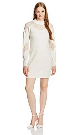 日亚好价!snidel SWNO164062 女士透视针织连衣裙(16年10月限定款)