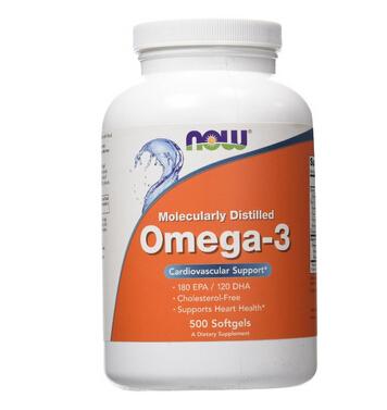 直邮新低价!NOW Foods 诺奥 Omega-3 深海鱼油胶囊 500粒