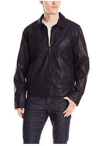 美亚新低价!Calvin Klein 卡文克莱 Faux Leather 男士仿皮夹克