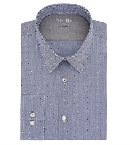新低!Calvin Klein 卡文克莱 Slim Fit Shirt 男士波点衬衫