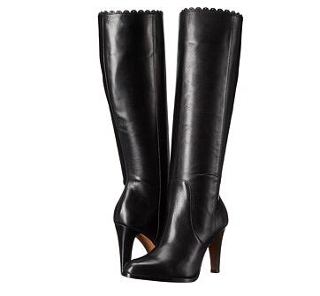 6PM好价!COACH 蔻驰 女士17英寸真皮长筒靴