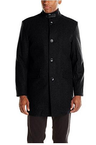 美亚新低价!Kenneth Cole 凯尼斯·柯尔 Wool-Blend Walker 男士时尚羊毛混纺外套