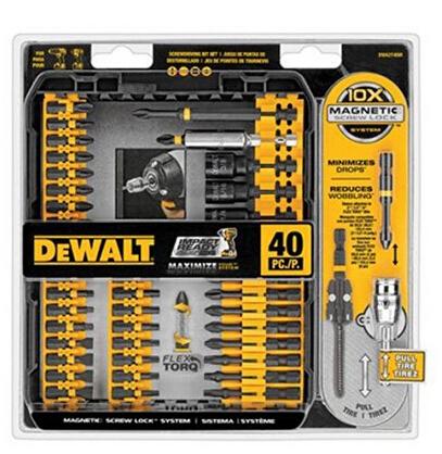 美亚好价!DEWALT 得伟 DWA2T40IR 电钻钻头附件套装 40件