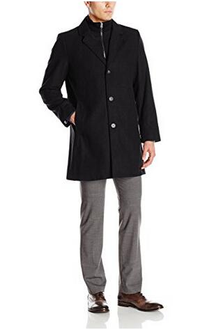 历史新低!Tommy Hilfiger 汤米希尔费格 Men's Bruce 男士长款单排扣羊毛大衣