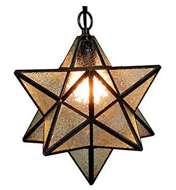 日亚新低价!Homestia 星型透明复古吊灯