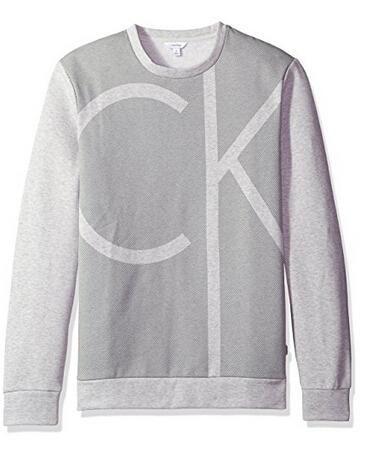 美亚新低价!Calvin Klein 卡文克莱 Color Block Ck Logo 男士长袖圆领卫衣