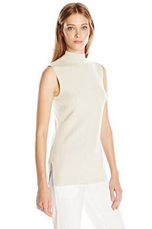 美亚新低价!Calvin Klein 卡文克莱 女款无袖高领针织上衣