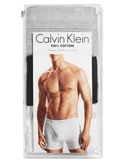 S码最低!Calvin Klein Cotton Classic 男士纯棉内裤3条装