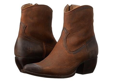 6PM好价!Frye 弗莱 女士做旧真皮短靴