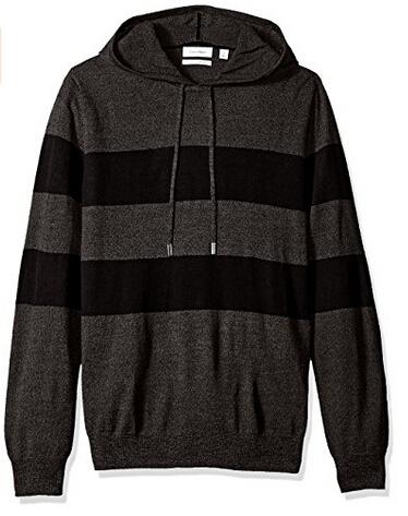 美亚新低价!Calvin Klein 男士美利奴羊毛混纺连帽卫衣 两色可选