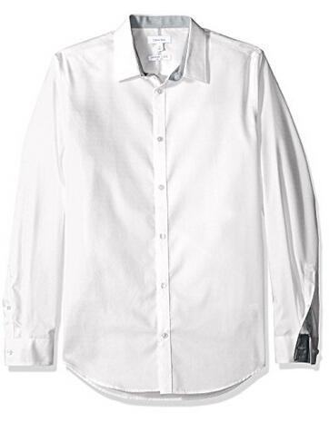 新低价!Calvin Klein 男士纯棉衬衫