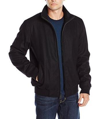 M码价格新低!Calvin Klein 男士羊毛混纺夹克