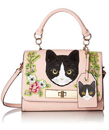 美亚好价,ALDO Corvara 女士猫咪图案手提斜挎包