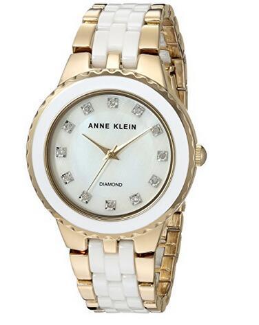 母亲节礼物,12颗真钻啊!Anne Klein 2712WTGB 女士时尚手表