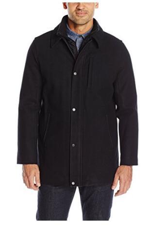 反季囤货了!限S码!Calvin Klein Wool Carcoat 男士外套