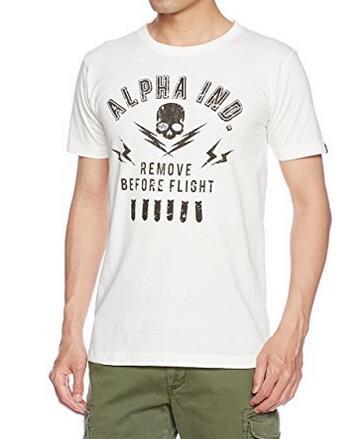 适合凑单购买!Alpha Industries 阿尔法 男士纯棉T恤