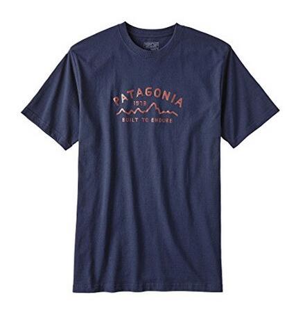 国内低价推荐!Patagonia 男式 短袖T恤 LOGO有机棉T恤