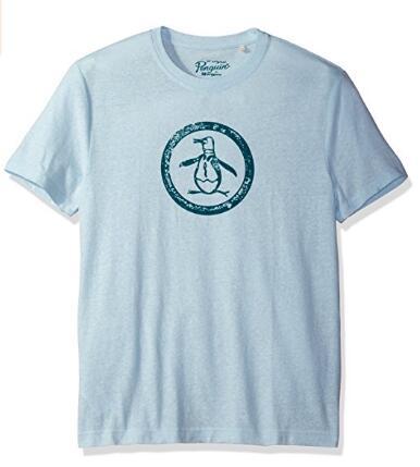 白菜价了!Original Penguin 企鹅牌男士圆领印花T恤
