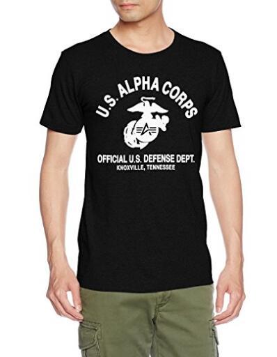 亚马逊海外购!Alpha Industries 阿尔法 Corps 男士纯棉T恤