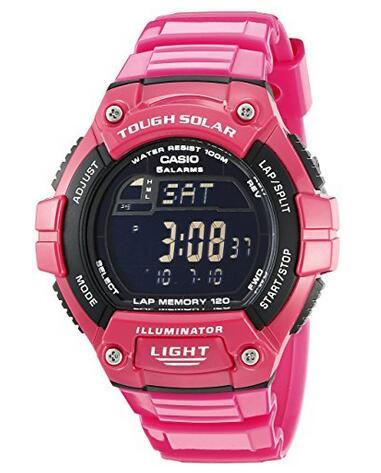 亚马逊海外购!CASIO 卡西欧 W-S220C-4BVCF 反显太阳能手表
