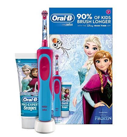 海外购推荐!Oral-B 欧乐B Stages Power 儿童电动牙刷+牙膏礼盒装