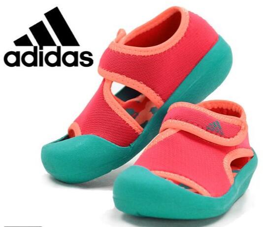日亚买童鞋!2016夏款adidas阿迪达斯大童沙滩/包头凉鞋