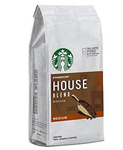亚马逊补货!Starbucks 星巴克 House Blend 研磨咖啡粉200g*6袋