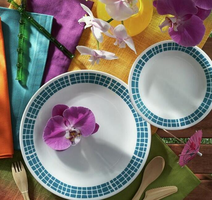 亚马逊海外购!CORELLE Livingware 美国康宁餐具16件套
