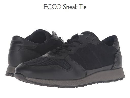 6PM官网推荐!ECCO 爱步 Sneak 男士真皮休闲运动鞋