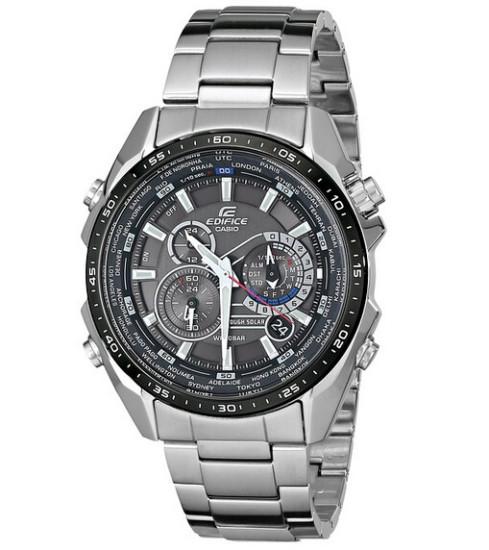 美亚金盒特价!Casio EQS500DB-1A1 卡西欧Edifice系列光动能手表