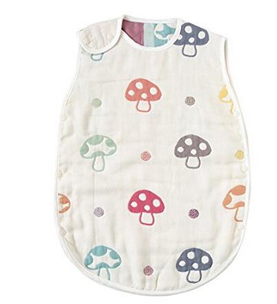 亚马逊海外购!日本 Hoppetta 六层纱布蘑菇睡袋(0~3岁)