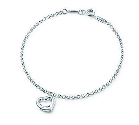 Prime会员额外7折!Tiffany&Co 蒂芙尼心形纯银手链