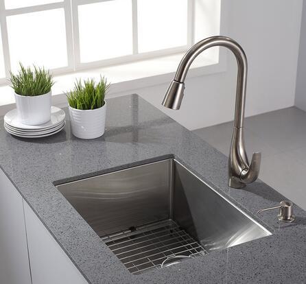比海淘便宜,限Prime会员,Kraus 克劳思 KPF-1621SS 厨房抽拉水槽龙头