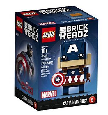 美亚凑单买什么!LEGO BrickHeadz 41589 美国队长积木组装人偶