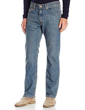 亚马逊海外购!LEE 李牌男士经典款标准直筒牛仔裤