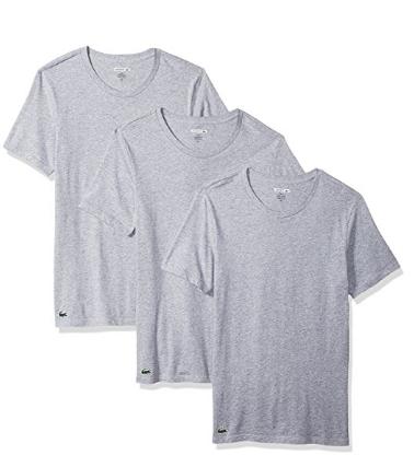 限尺码好价, Lacoste 拉科斯特 男士圆领短袖T恤3件装