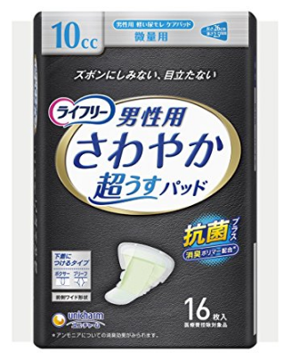 凑单新低价,unicharm 尤妮佳 成年男性用卫生巾 26cm 16片装