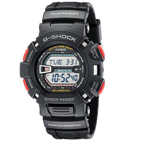 CASIO 卡西欧 G-SHOCK Mudman 泥人系列 G-9000-1 男士手表