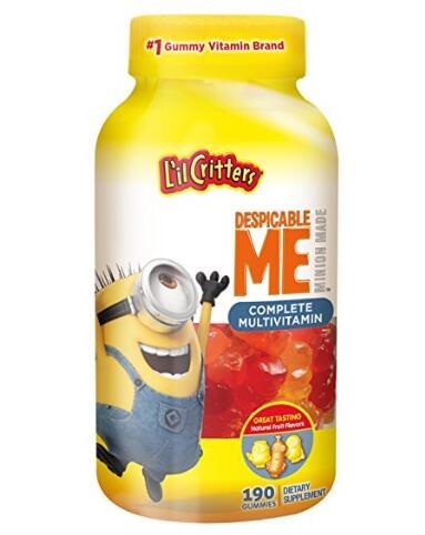 海外购凑单!小黄人版 L'il Critters 儿童多种维生素软糖190粒
