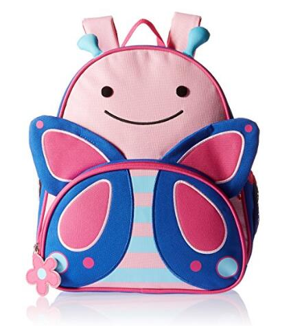 亚马逊海外购!SKIP HOP 可爱动物园系列儿童背包蝴蝶款