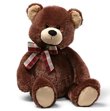亚马逊海外购!超大号63厘米Gund 格子领结25英寸泰迪熊