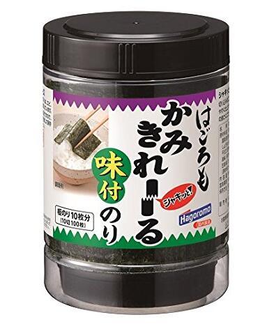 日亚凑单!Hagoromo 即食海苔片紫菜片婴幼儿零食下饭切片海苔100枚