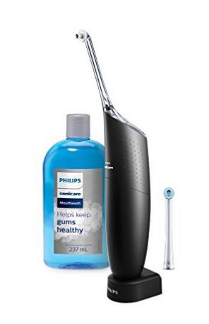 2017黑五!Philips 飞利浦 Sonicare AirFloss 新款黑色电动牙线和漱口水