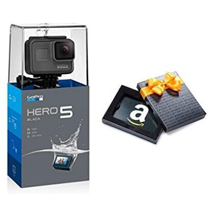 美亚好价,GoPro HERO 5 Black 运动相机 + 50美元美亚礼品卡