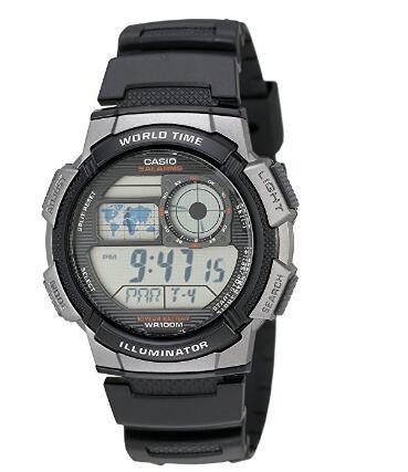 凑单好物! CASIO 卡西欧 AE1000W-1B 男款运动腕表