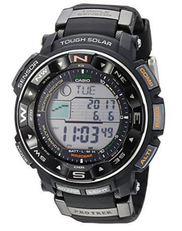 美亚新价,CASIO 卡西欧 PRW-2500-1CR 登山系列 男款电波表